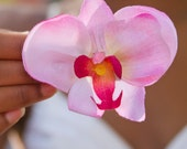 Pink Orchid Hair Flower
