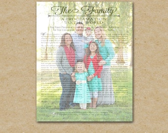 LDS Family Proclamation Custom Prinatable-Single Picture