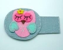 Handmade fun lazy eye patch, felt eye patch, fabric eye patch, Non-Adhesive - Sleeping owl (b)