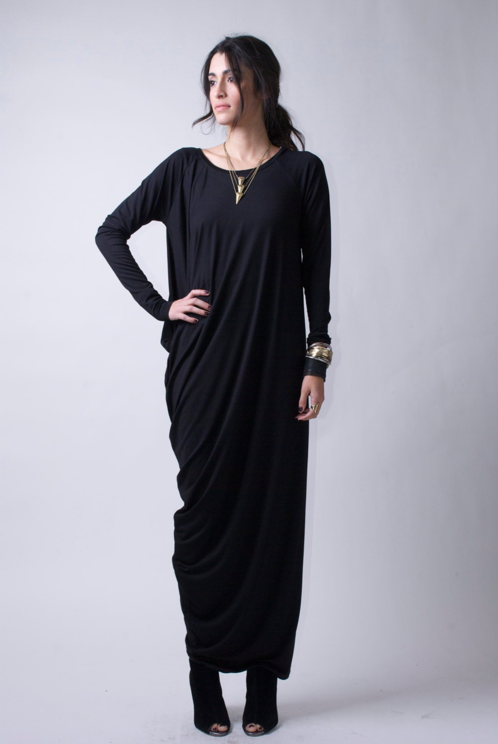 Maxi dress casual dress long sleeve dress oversize zoom ombrellifo Image collections