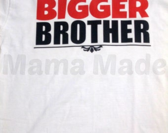 Bigger Brother Shirt or Bodysuit Black And Red Bigger Brother Shirt, brother shirt, pregnancy announcement shirt, sibling shirts, brother