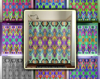 View chevron shower curtains by TablishedWorks on Etsy