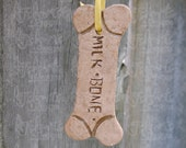 OOAK - Milk Bone Polymer Clay Ornament