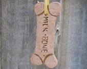 OOAK - Milk Bone Polymer Clay Ornament