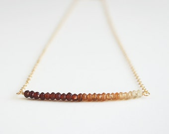 Brown Ombre Necklace, Ombre Necklace, Brown Necklace