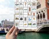 Venice Travel Bingo - PRINTABLE - Travel Accessory, Traveller Gift, Italy Wanderlust, Illustrated Game for Adults