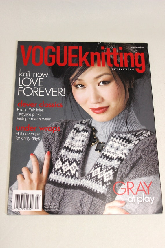 Knitting Magazines List : Vogue knitting magazine back issue winter