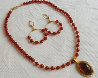 Amber Waves Necklace and Earring Set