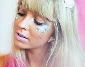 Pink Ombre Large Glitter Hearts Headband, Glitter Hair Band, Ombre Headband, Sparkle Hair Band, Pink Kawaii, Lolita, Prom Hair Accessory