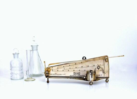 Manometer Scientific Steampunk Laboratory Instrument Tru Tel Antique E. Vernon Hill