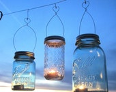8 DIY Love You Lantern Jar Hangers, Heart Mason Jar Wedding Hanging Candle Jar or Flower Vase Lids, No Mason Jars