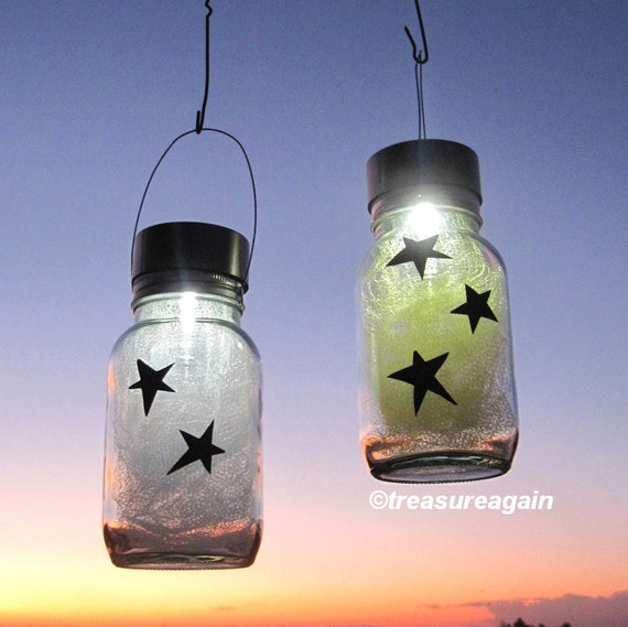 Star Light Jars Outdoor Home Decor Holiday Mason Jar Solar