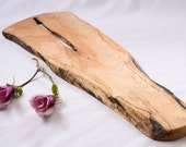 Long, Natural Edge Salvaged Maple Serving Board 959, Ready to Ship
