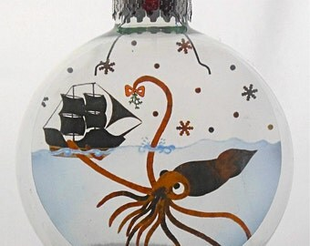Mr. Squid Christmas Holiday Ornament