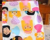 Princesses Fabric Sandwich Wrap - reusable baggie cloth lunch mat ecofriendly cotton sandwich bag Ann Kelle Girl Friends kids children