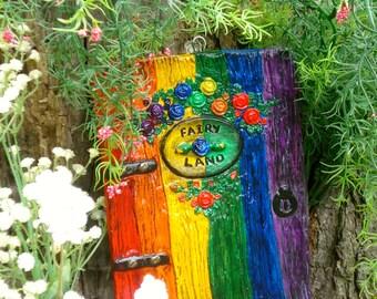 Fairy door extra large fairy door unique garden gifts for Rainbow fairy door