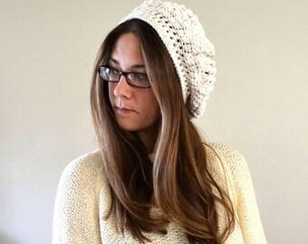 Crochet Beret Pattern - Boho Crochet Pattern - Crochet Tam Pattern - DIY Pattern Womens Beret - Beginner