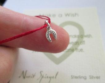 Good Luck Red String Bracelet Horseshoe Bracelet Good Wish Horseshoe Tiny Horse shoe Charm Bracelet Lucky Charm Jewelry Kabbalah Red String