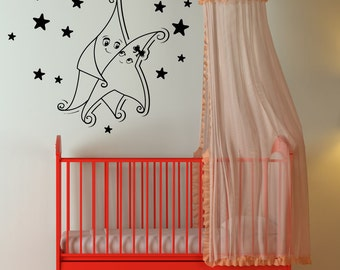 Vinyl Wall Decal Sticker Dancing Stars 1349m
