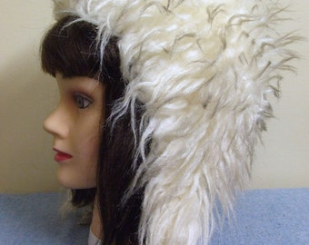 1980s Ladies Faux Fur Hat - Small