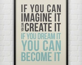 Dream It - Typography Poster