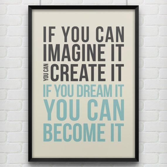 Dream It - Typography Poster