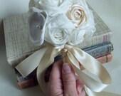Shabby Chic Bouquet, Bridesmaid bouquet, Keepsake Bouquet, Flower Girls, Vintage Wedding, Bridal bouquet, Ivory wedding, shabby