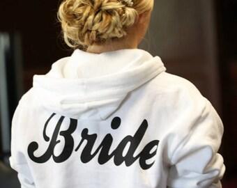 Custom Personalized Bridal Zip-Up Hoodie