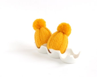 SALE 10% OFF Sunny yellow egg warmers