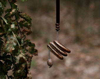 extra long statement earring - wood and seeds - contemporary ethnic jewelry - nature