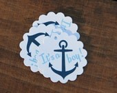 Its A Boy Anchor Tags, Perfect for Baby Showers, Anchors, Adorable Favors For Baby Shower, Navy, Light Blue