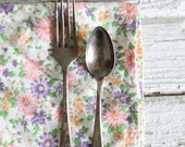 antique small fork and spoon set / childs flatware, utensils