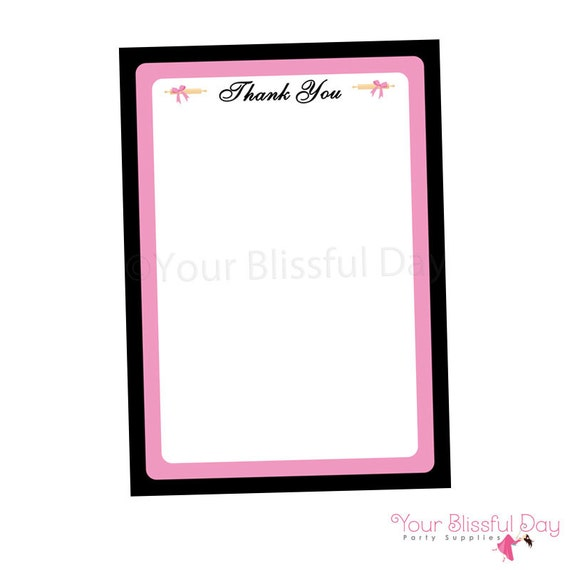 PRINTABLE Kitchen Bridal Shower Thank You Cards #808