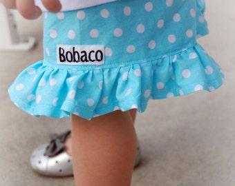 Infant Girls, Toddler Girls, Girls Polka Dot Ruffle Shorts- 3months to size 10/12