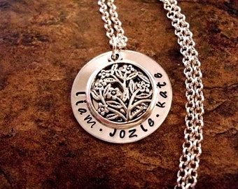 Personalized Jewelry, Mommy Necklace, Personalized Necklace, Hand Stamped Jewelry