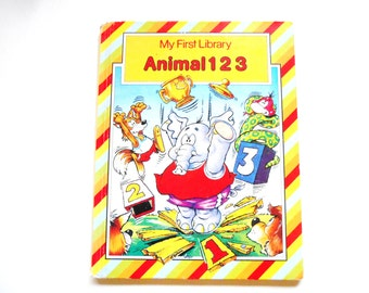 Animals 1 2 3, a Vintage Children's Counting Book