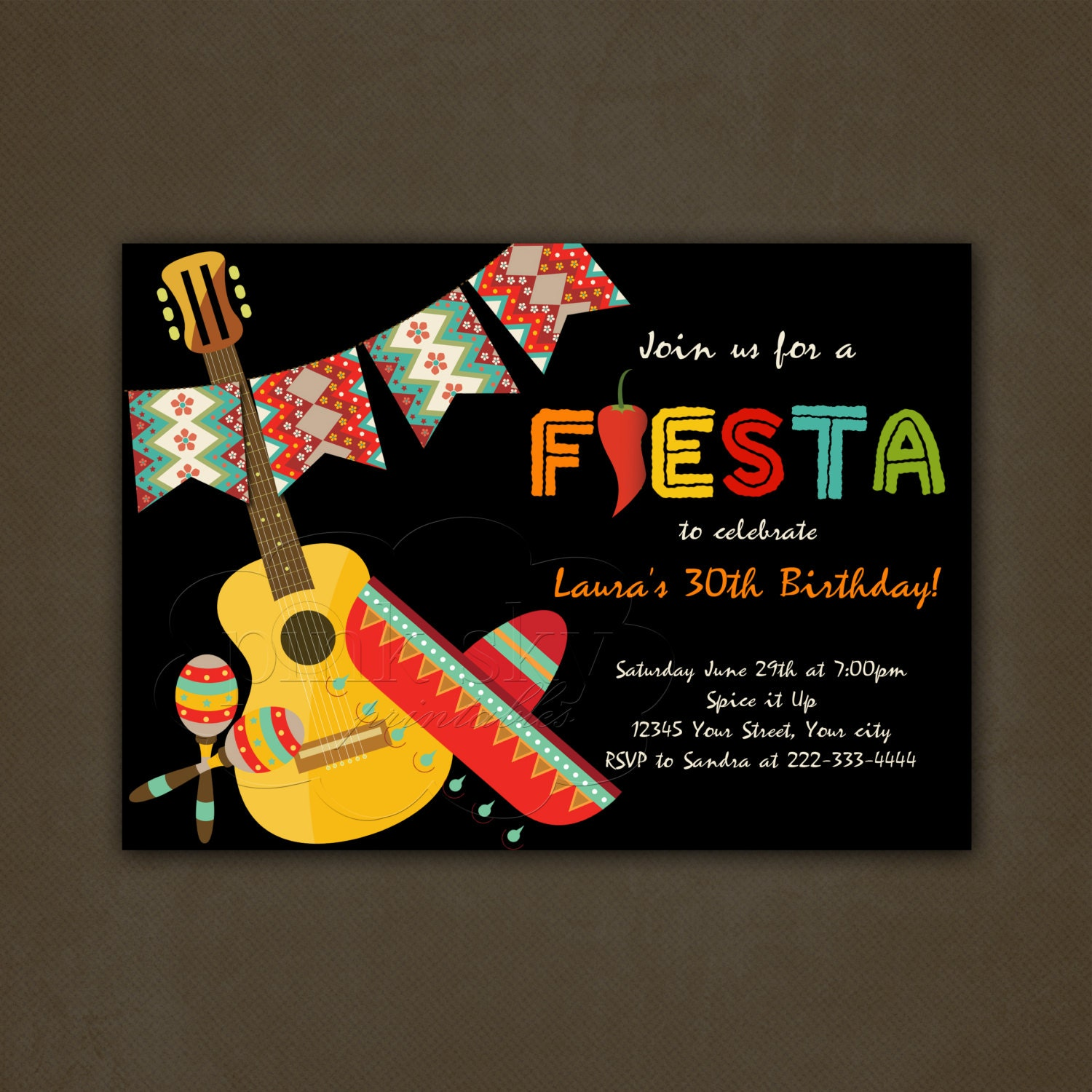 It is a picture of Nerdy Free Printable Fiesta Invitations