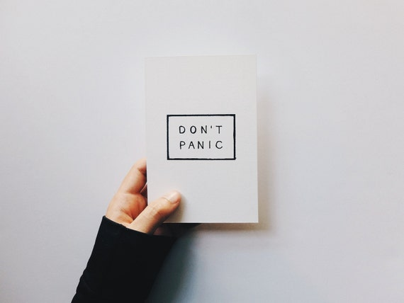 The Don't Panic Postcard Print