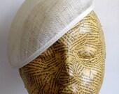 Large Sinamay Beret - Ivory