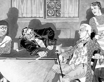 Pirates, Sailors, Bar, Pub, Tavern, 1920s Print