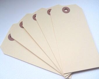 MANILLA Tag - Qty 10 - Medium Tag - 4 3/4 x 2 3/8 - Shipping Tag - Gift Wrapping - Favor Packaging