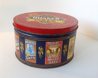 Quaker Oats limited edition 1983 vintage tin
