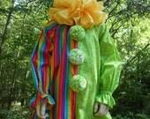 "D073  Ready To Ship  Wonderful ""Hoopla""  Circus Clown Halloween Costume   Child's 5"