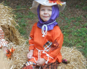 "C143  Ready To Ship in 1 Week    Adorable ""Berry""  Scarecrow Halloween Costume  Toddler 1"