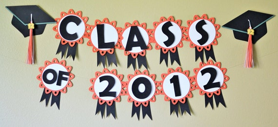 graduation banner - party decorations - custom colorsbc paper
