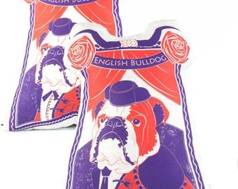 English Bulldog Dog Breed Pillow Matching Set