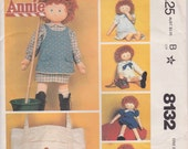 Annie Doll Clothes Pattern Fits 36 inch Annie Doll Uncut  McCalls 8132