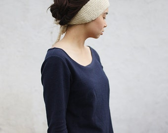knit earwarmer winter headband wool THEA