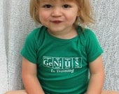 Science-Themed Baby Onesie - GENIUS IN TRAINING Bodysuit by Periodically Inspired - Gift For Newborn