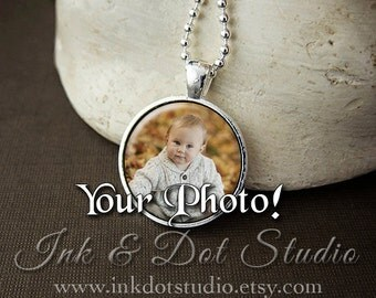 Custom Photo Necklace, Custom Pendant From Your Photo! Custom Photo Gift, Personalized Photo Pendant, Personalized Photo Necklace